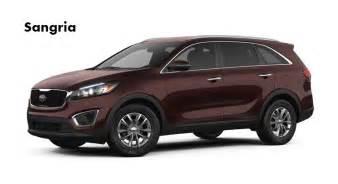 2017 kia sorento available exterior colors and interior colors