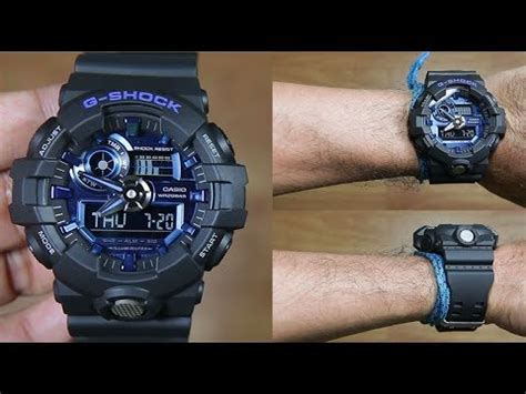 Casio G Shock Ga 710 1a2 casio g shock ga 710 1a2 black blue unboxing