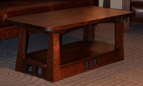 get comfort with a mission style coffee table coffee