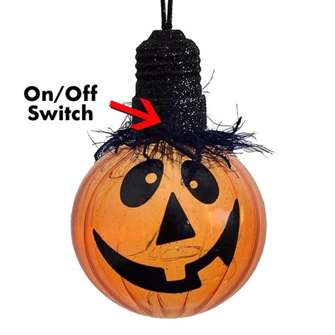 battery lighted decorations battery operated led pumpkin ornament light