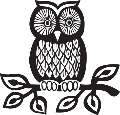 black and white owl pattern cute owl graphic clipart best