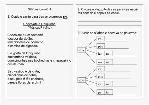 ch e atividades para trabalhar o uso do ch ortografia