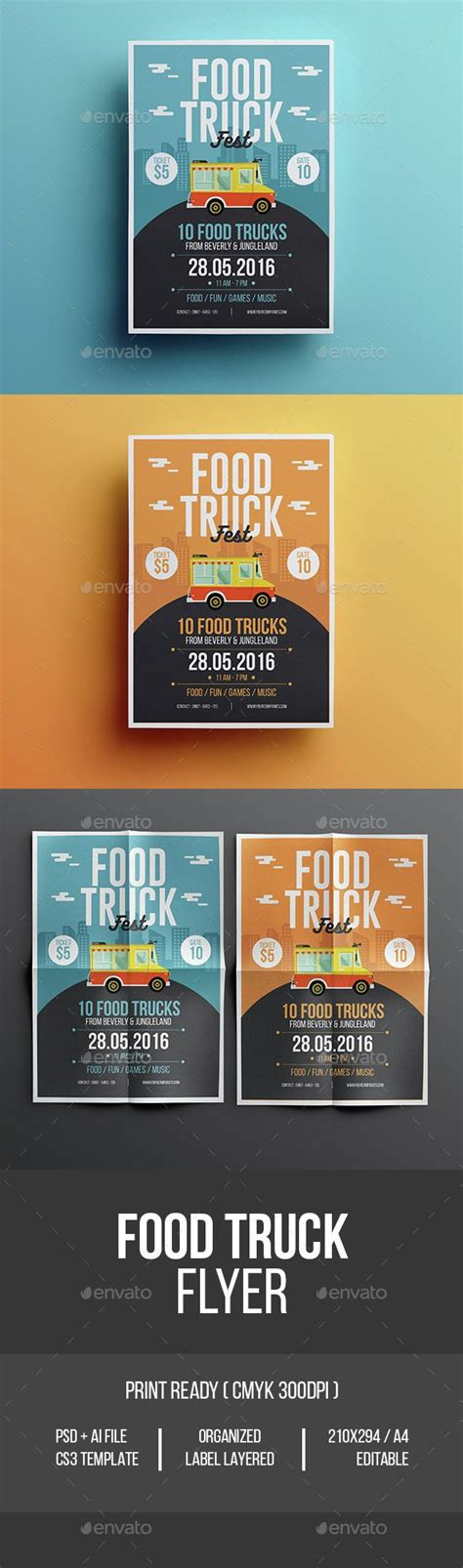 Event Flyer Layout Ideas | food truck flyer gardens creative and promotion