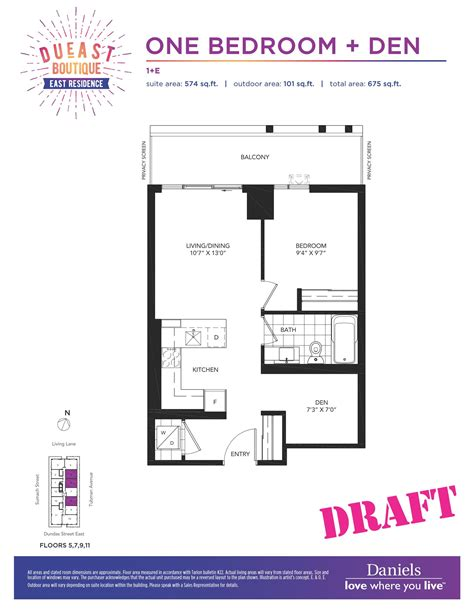 daniels high park floor plans dueast boutique condos regent park life