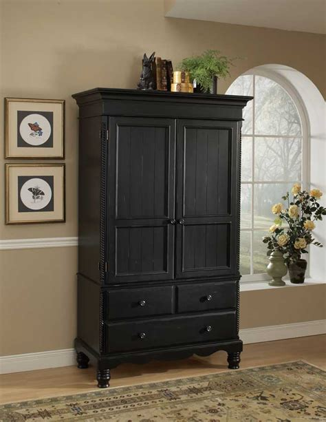 Black Armoire Hillsdale Wilshire Armoire Rubbed Black 1173 788 789