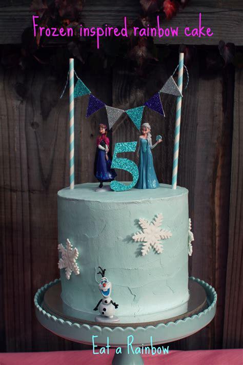 frozen cake topper cake bunting set eat  rainbow madeitcomau