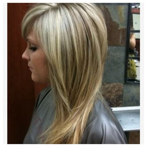 lowlighting the hair under the top layer long layered cut w dark blond highlights repinly com