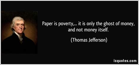the ghost of thomas here s what thos jefferson had to say about the difference between coins paper money numista