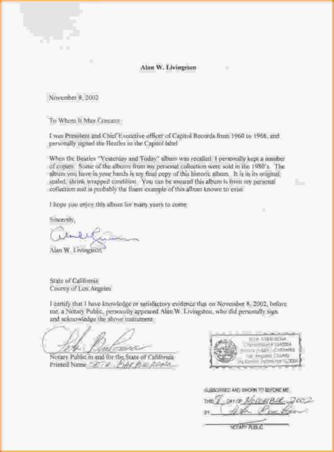 template for notarized letter how to get a notarized letter how to format cover letter