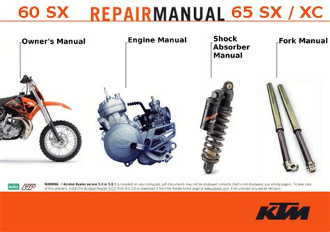 Ktm 65 Sx Repair Manual Official 1998 2009 Ktm 65sx Xc Repair Manuals Cyclepedia