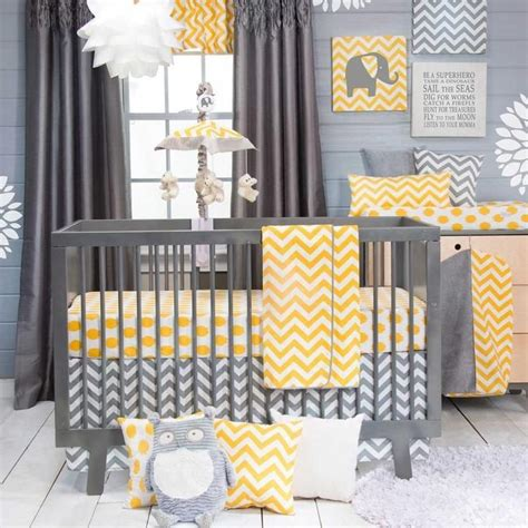 yellow nursery bedding 25 best ideas about gray yellow nursery on pinterest