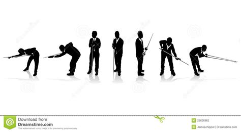 snooker player silhouettes stock photography image 25826982