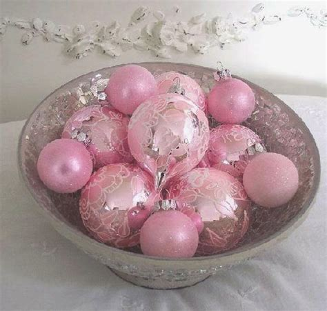 pink vintage christmas ornaments pinup antiques