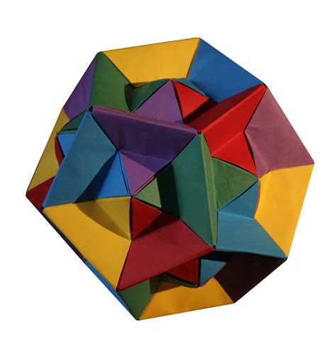 Unit Polyhedron Origami - dual triangles by tomoko fuse origami constructions