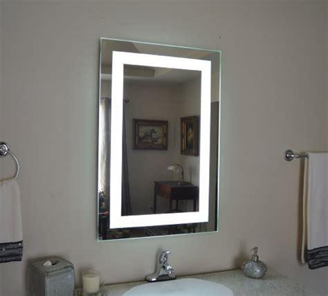bathroom wall mounted led lighted vanity mirror 27 x 28 wall mounted lighted vanity mirror led mam82436 commercial