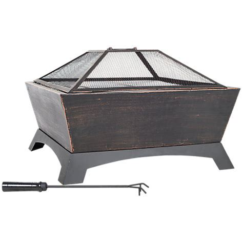 buy firepit buy la hacienda harleston firepit with cooking grill