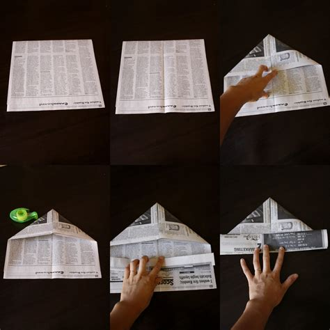 Make Paper Hat - make a tent out of paper invitations ideas