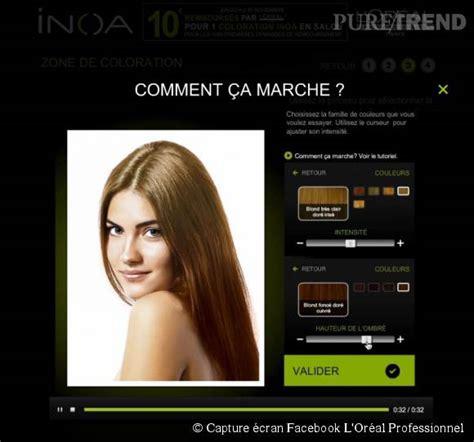 cheveux tester une nouvelle couleur avec l appli inoa l