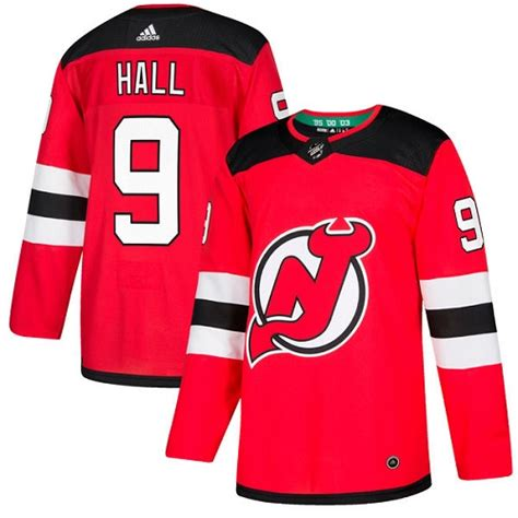 Adidas Devils #9 Taylor Hall Red Home Authentic Stitched