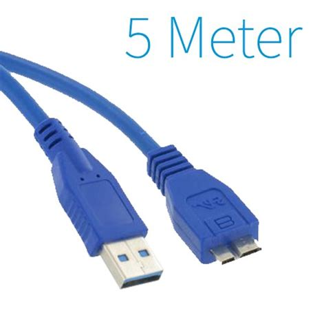 Tetherplus Usb 3 0 Micro B 3 Meter usb 3 0 a micro b kabel 5 meter groothandel xl