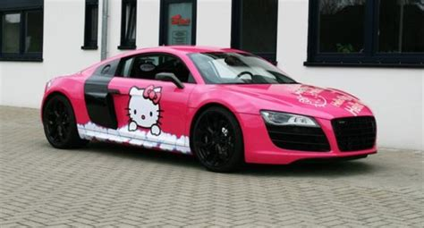 pink audi pink audi r8 v10 hello kitty loves you autoevolution