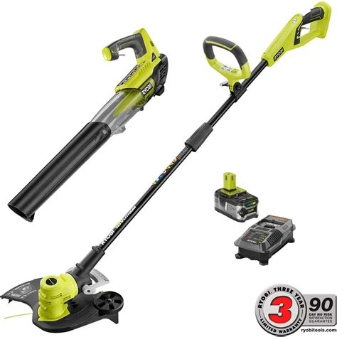 ryobi fan and battery ryobi one 18 volt lithium ion cordless string trimmer and