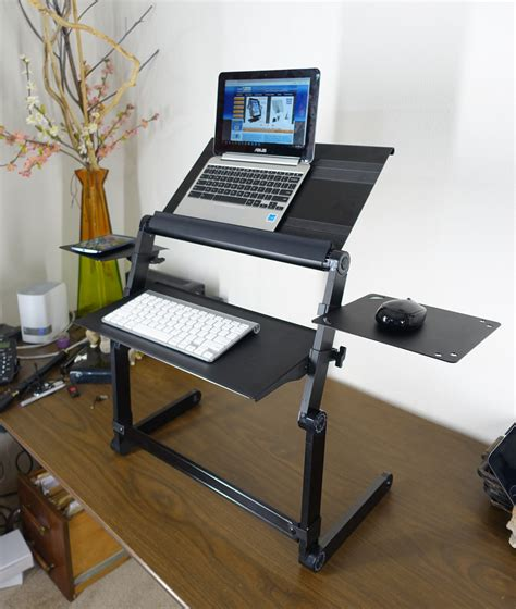 Laptop Stands For Desks Lapworks Wizard Standing Desk For Your Desktop Or Table