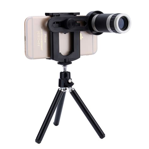 Tripod Weifeng Holder U Universal Superwide 4 0 Lens High Quality universal 8x zoom telescope lens mobile phone mount tripod stand holder for iphone