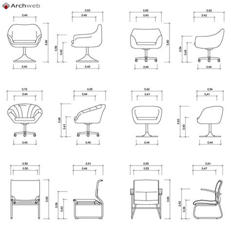sedie archweb sedie 2d in prospetto dwg chairs in the prospect