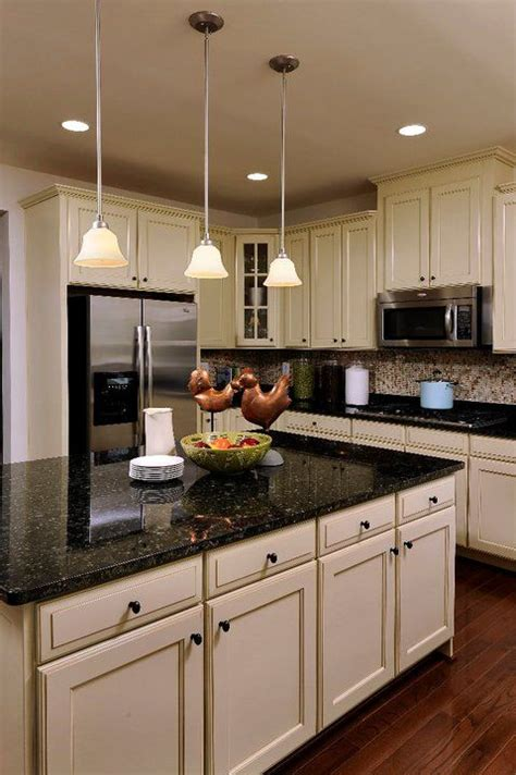 Granite Countertops With Black Cabinets by Best 25 Black Granite Countertops Ideas On