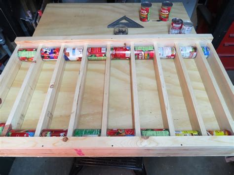 diy rotating canned food system  owner builder network