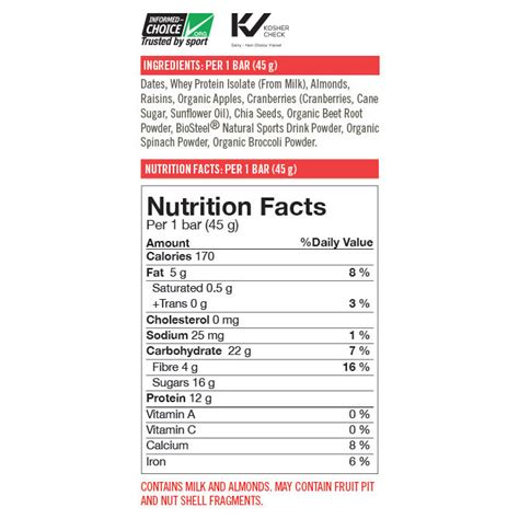3 protein facts biosteel nutrition bars 3 x 45g bars ebay