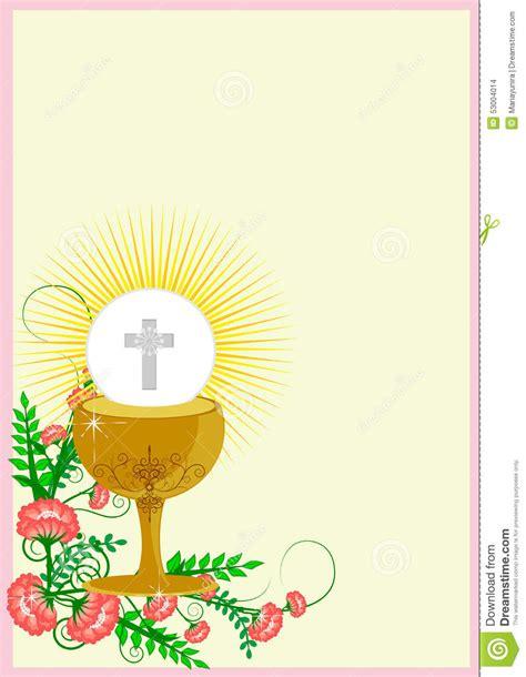 diploma de comunion para imprimir primera comuni 243 n santa ilustraci 243 n del vector imagen