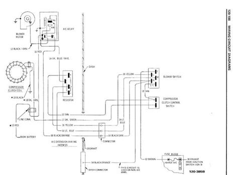 70 el camino blower motor wiring diagram 70 gto wiring