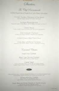 carnival dining rooms menu 1