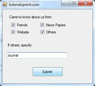 tutorialspoint vba pdf vb net checkbox control