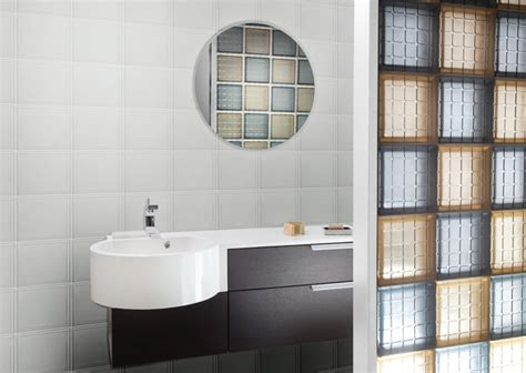 trennwand toilette mosaic glass tile block bathroom partition wall