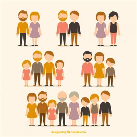 diversi tipi di diversi tipi di famiglie scaricare vettori gratis