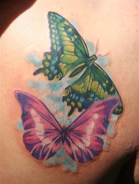 phil young hope gallery tattoos realistic butterflies