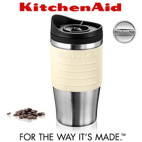 KitchenAid   Thermal Travel Mug 540 ml   Almond Cream   Cookfunky