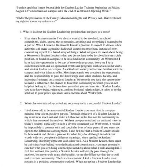 Essay About Leadership by Leadership Essay 7 Free Sles Exles Format Free Premium Templates