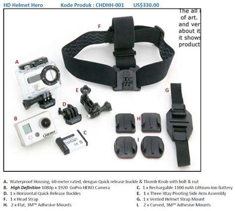 Asesoris Helm Untuk Go Pro Kit 4 Helmet Accessories Flat Curv X01 Gopro Hd Paket Model Dan Mounting Kit Nya