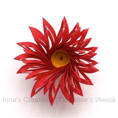 How To Make Flowers With Paper Quilling - inna s creations how to make fringed flowers
