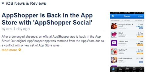 ipad apps iphone apps deals and discovery at app shopper app appshopper回歸 隨時掌握ios上免費與降價app訊息