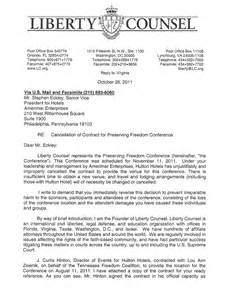 Demand Letter To Employer Liberty Counsel Demand Letter To Hutton Hotel The Counter Jihad Report