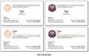 proper business card layout brand standards mccombs business school