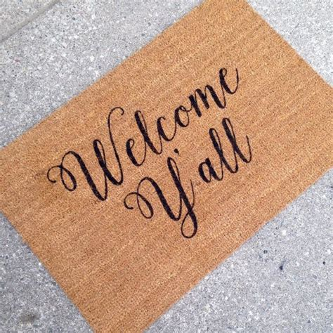 Large Welcome Mat Welcome Y All Doormat Door Mat Painted Large By