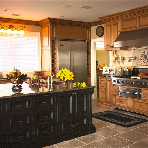 Rustic Black Kitchen Cabinets Distressed Wood Cabinets Bathroom Traditional With