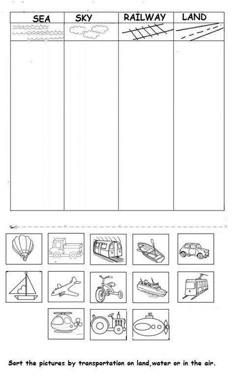 kindergarten activities on transportation vehicle worksheet for kids october preschool