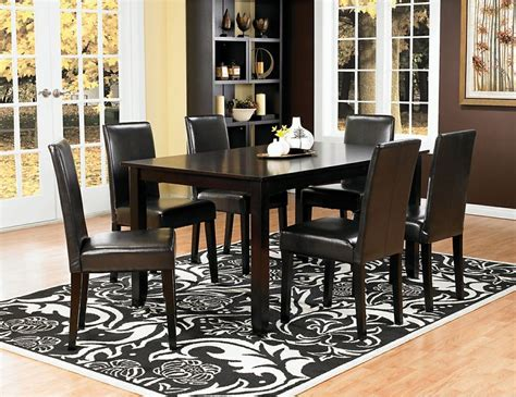 Nicole 7 Piece Dining Package With Brown Chairs Brick Dining Room Sets